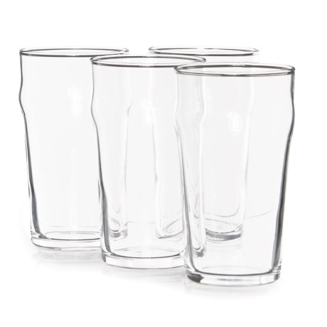 Circle Glass Circleware Stout Nonic Beer Pint Glasses - 19.27 fl.oz., Set of 4