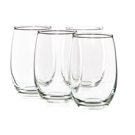Circle Glass Downtown Stemless White Wine Glasses - 15.5 fl.oz., Set of 4
