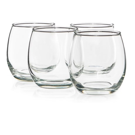 Circle Glass Downtown Stemless Red Wine Glasses - 12 fl.oz., Set of 4