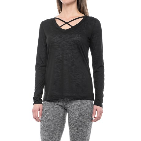 Balance Collection Crisscross Shirt - Long Sleeve (For Women)