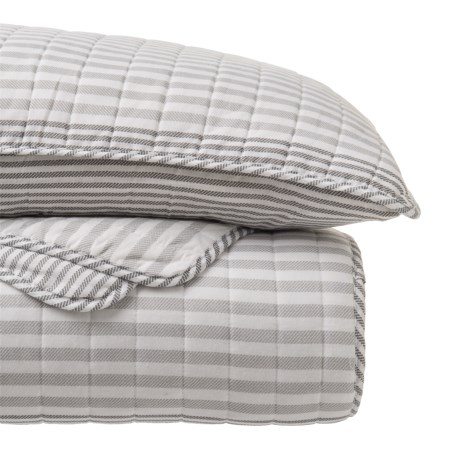 Nicole Miller Saltwater Stripe Quilt and Sham Set - Queen