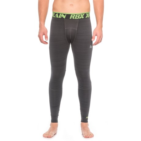 RBX Brushed Printed Compression Base Layer Pants (For Men)