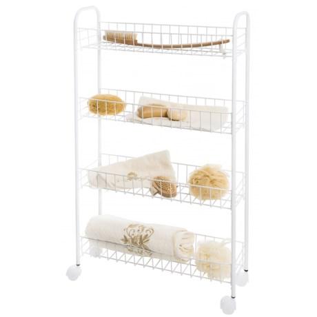 Richards Homewares Narrow 4-Tier Rolling Storage Cart