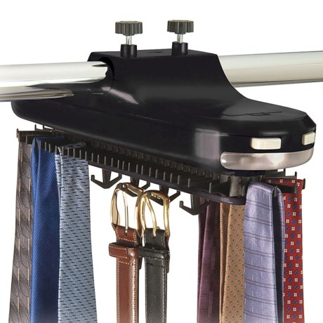 Richards Homewares Revolving Tie Rack - Battery Operated