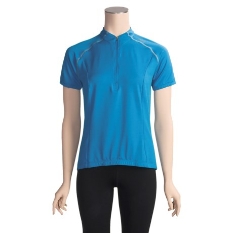 Shebeest S-Cut X-Static® Cycling Jersey - Zip Neck, Short Sleeve (For Women)