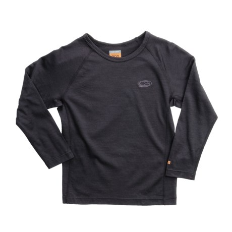 Icebreaker Junior Bodyfit 200 Oasis Base Layer Top - UPF 30+, Merino Wool, Long Sleeve (For Toddlers)