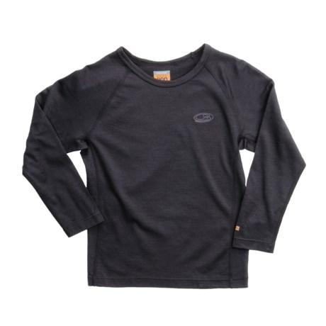 Icebreaker Junior Bodyfit 200 Oasis Base Layer Top - UPF 30+, Merino Wool, Long Sleeve (For Toddlers)