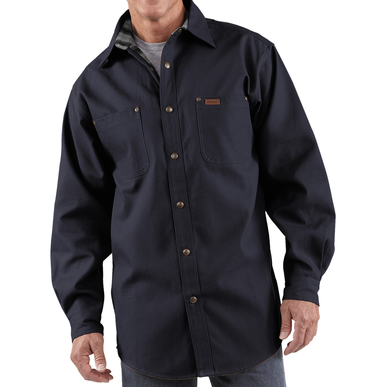 Carhartt canvas shirt jacket for men 3291x for 9 oz flannel shirt