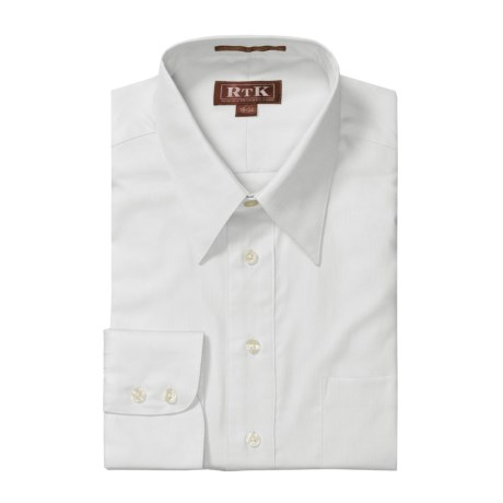 RTK Shirts Royal Oxford Dress Shirt - Cotton, Point Collar, Long Sleeve (For Men)