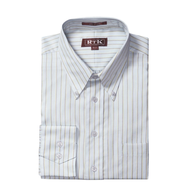 Rtk shirts button down collar dress shirt for men 3296p for Button down collar dress shirts