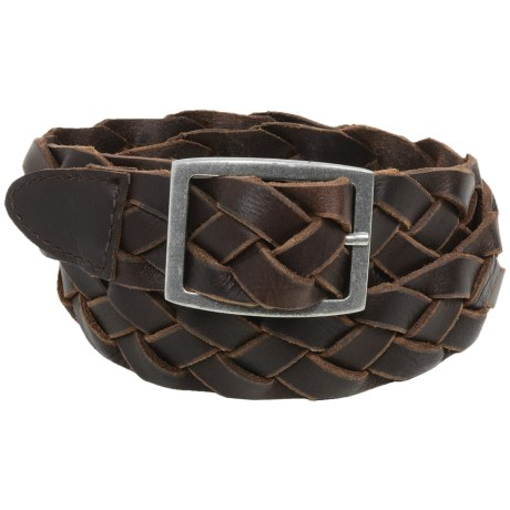 American Endurance Braided Leather Belt - Nickel Buckle (For Men)