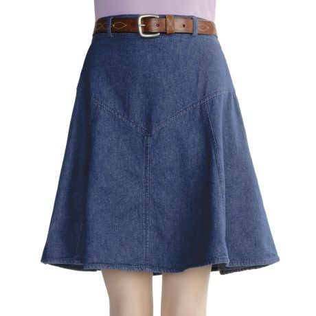 Crazy Cowgirl Denim 8-Gore Skirt - Back Elastic Waist (For Women)