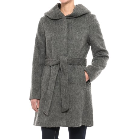 Cole Haan Faux-Angora Belted Coat - Wool Blend (For Women)