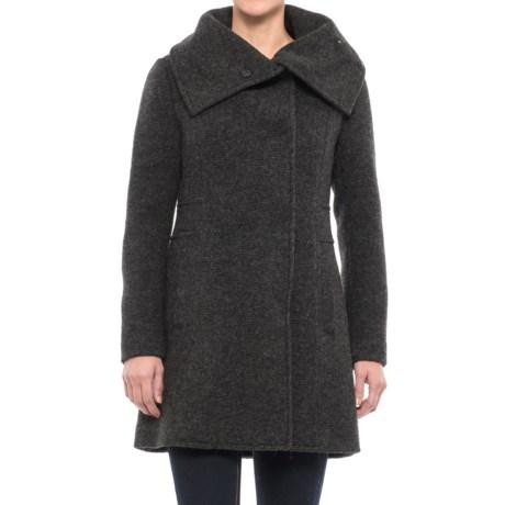 Cole Haan Oversized Collar Coat - Wool Blend (For Women)
