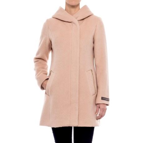 Cole Haan Hooded Alpaca-Wool Coat (For Women)