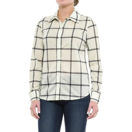 Caribbean Joe Fine-Knit Shirt - Button Front, Long Sleeve (For Women)