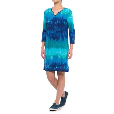 Caribbean Joe Tie-Dye Dress - 3/4 Sleeve (For Women)