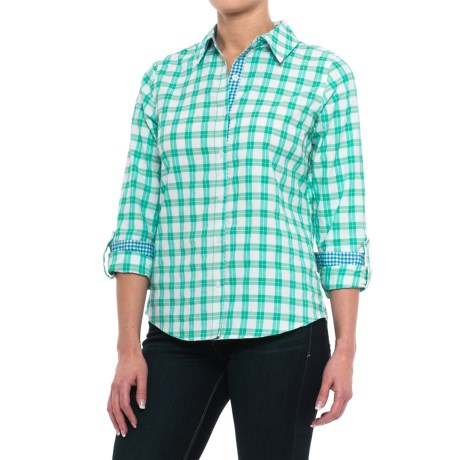 Caribbean Joe Nice Day Plaid Shirt - Long Sleeve (For Women)