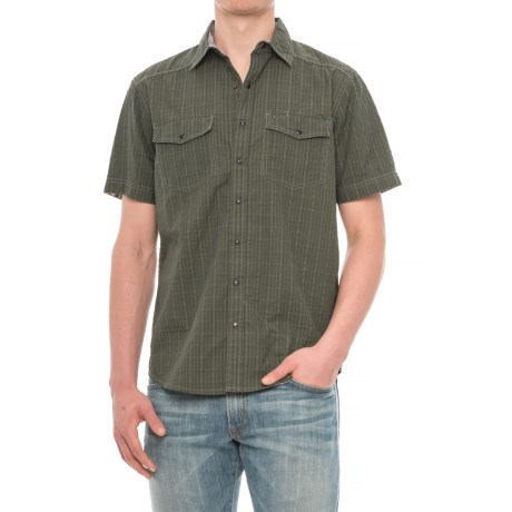 Ecoths Winthrop Organic Cotton Plaid Shirt - Snap Front, Short Sleeve (For Men)