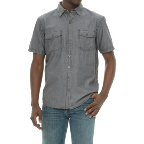 Ecoths Mathis Herringbone Shirt - Organic Cotton, Short Sleeve (For Men)