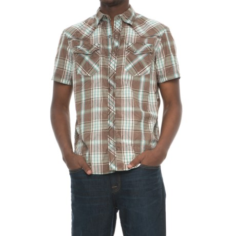 Ecoths Donovan Organic Cotton Plaid Shirt - Snap Front, Short Sleeve (For Men)