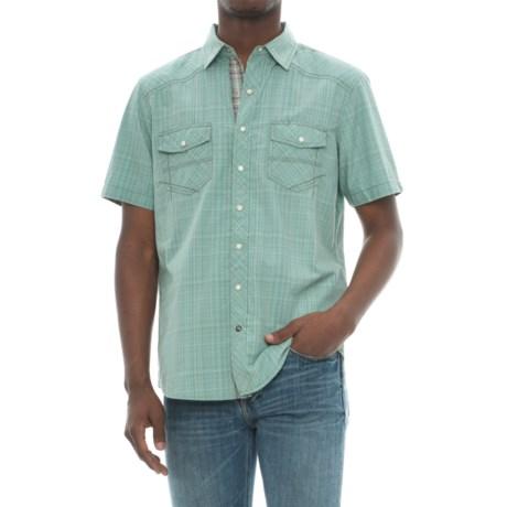 Ecoths Somersett Organic Cotton Shirt - Snap Front, Short Sleeve (For Men)