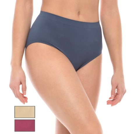 Nouvelle Premium Seamless High-Waisted Panties - Briefs, 3-Pack (For Women)