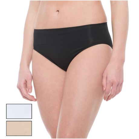 Nouvelle Wide-Waist Seamless Panties - Bikini, 3-Pack (For Women)