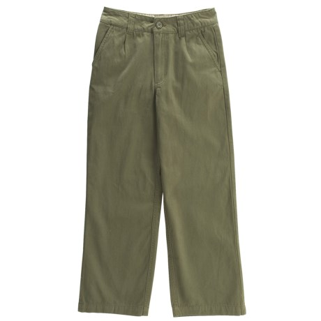 Brushed Cotton Twill Pants (For Boys)
