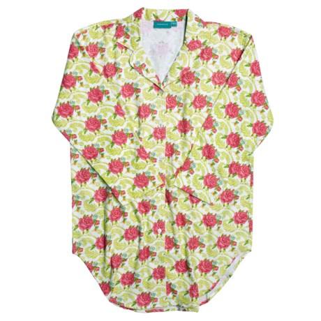 Needham Lane Cotton Flannel Nightshirt - Long Sleeve (For Women)