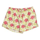 Needham Lane Rose Flannel Boxer Shorts (For Women)