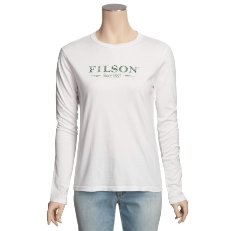 Filson Better Outdoor T-Shirt - Cotton Jersey, Long Sleeve (For Women)