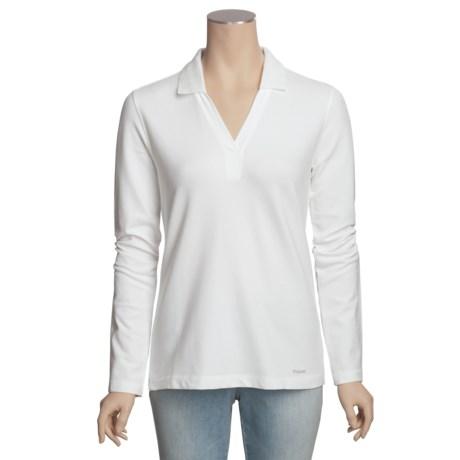 Filson V-Neck Shirt - Stretch Pique Cotton, Long Sleeve (For Women)