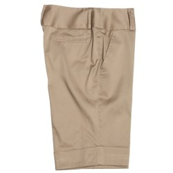 Atelier Luxe Cotton Sateen Shorts (For Women)