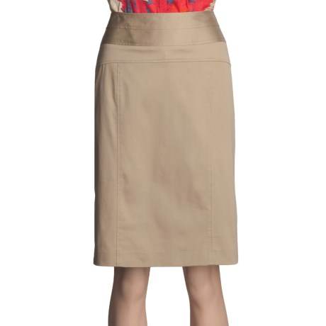 Atelier Luxe Cotton Sateen Skirt - Slim (For Women)