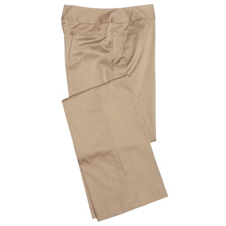 Atelier Luxe Cotton Sateen Pants (For Women)