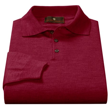 Toscano Polo Sweater - Italian Merino Wool (For Men)