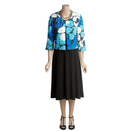Madison Leigh Shutter Pleat Jacket and Dress - 3/4 Sleeve (For Women)
