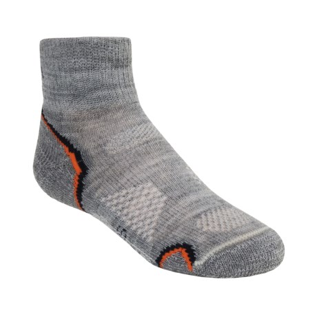 SmartWool Outdoor Socks - Merino Wool, Light Cushion, Quarter-Crew (For Kids and Youth)