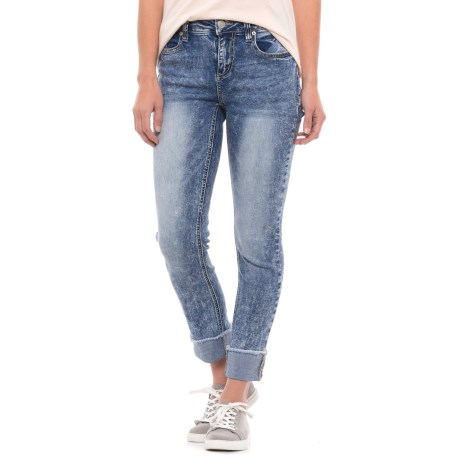 Seven7 High Cuff Slim Straight Jeans (For Women)