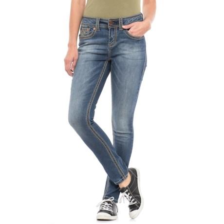 Seven7 Big Stitch Skinny Jeans (For Women)