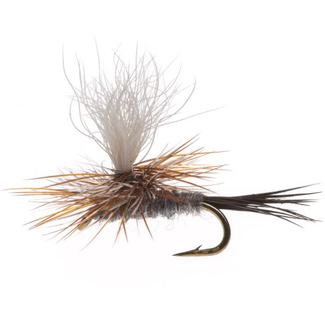 Black's Flies Parachute Adam's Moose Tail Dry Fly - Dozen