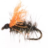 Black's Flies Griffith Gnat Dry Fly with Indicator - Dozen