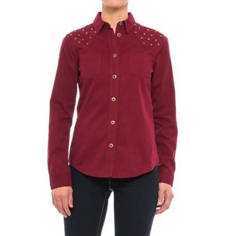 Stetson Studded Twill Shirt - Long Sleeve (For Women)