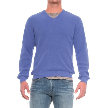 Specially made Baby Alpaca V-Neck Sweater (For Men)