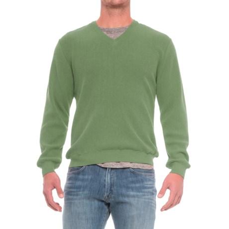 Baby Alpaca V-Neck Sweater (For Men)