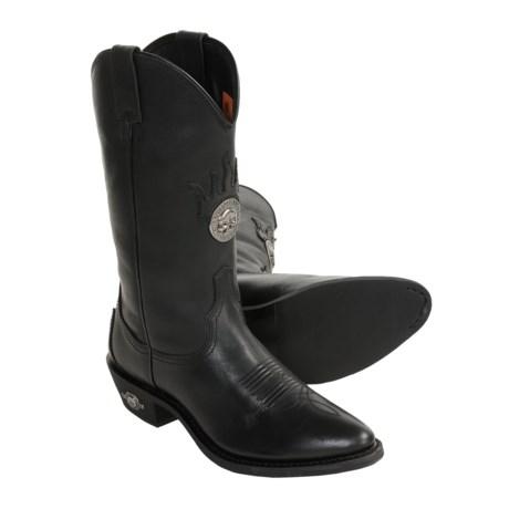 Harley-Davidson Clifton Western Boots - Full-Grain Leather (For Men)