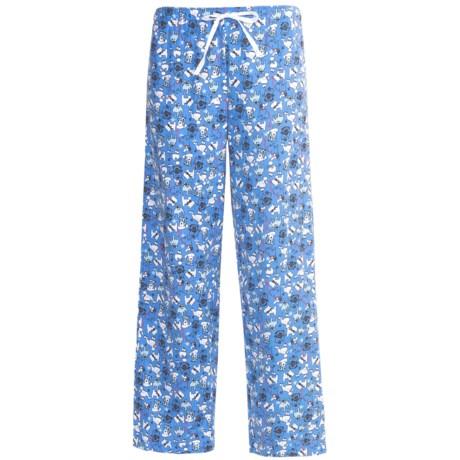 Nina Capri Flannel Print Lounge Pants (For Women)
