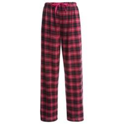 Nina Capri Flannel Print Lounge Pants - Lightweight (For Women)