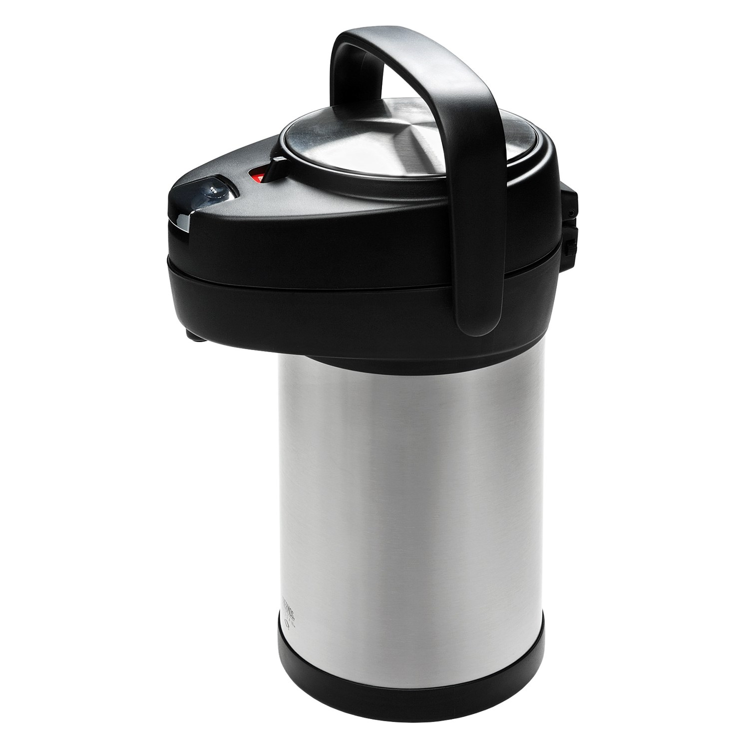 thermos nissan stainless steel pump pot 2 5 liter 3316f save 40. Black Bedroom Furniture Sets. Home Design Ideas